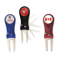 FLICK DIVOT TOOL with ENAMELLED BALL MARKER