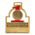"ZINC BAG TAG 3"" Stock French (Trou d'un Coup)"