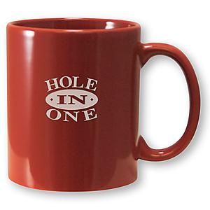 COFFEE MUG HOLE IN ONE - Etched