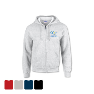 ZIPPERED HOODED SWEATSHIRT - Embroidered
